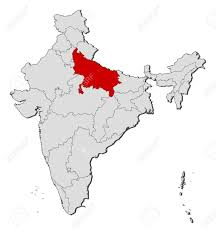 India States Map Political Map Of India With The Several States Where Uttar Pradesh