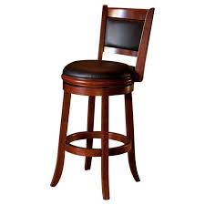 bar stools black leather button tufted back bar stools with