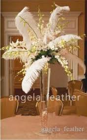 ostrich feather centerpiece 18 20inch45 50cm black white ostrich feathers plume for wedding