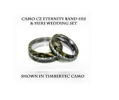 camo wedding bands his and hers camo eternity his hers stainless steel wedding band set