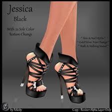 second life marketplace felicity jessica stilettos black