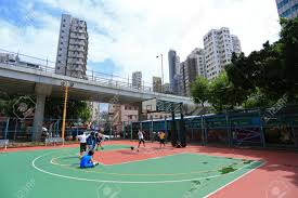 hong kong july 18 unidentified men play basketball on an