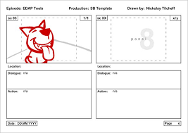 animation storyboard template u2013 9 free sample example format