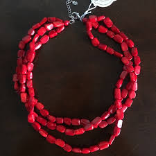 beaded coral necklace images Iris and lily london jewelry coral silver necklace poshmark jpg