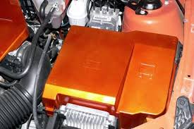 painted engine and battery covers