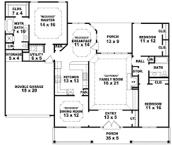 4 bedroom one story house plans story floor plans single open simple modern house 2000 real s
