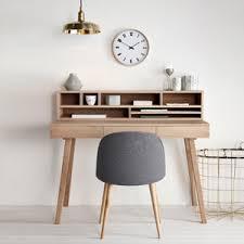 bureau en ch e massif bureau en chêne naturel 3 tiroirs hübsch bureaus