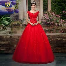 aliexpress com buy 2016 red ball gown cheap wedding dresses