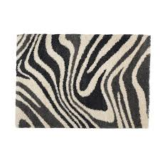 shop cam of america madagascar rectangular zebra accent rug at