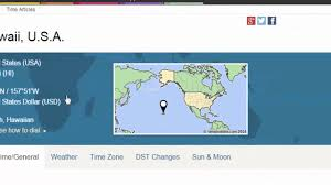 Map Of Time Zones Usa Hawaii Time Zone Youtube