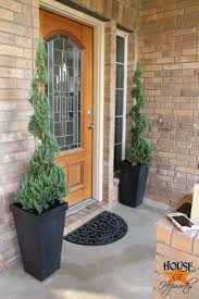 front porch planters trees house of hepworths