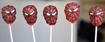 spiderman cake pops sweeterrific