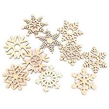 10pcs wooden bauble hanging tree blank
