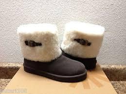 ugg womens ellee boots ugg ellee chocolate shearling sheepskin cuff maylin us 7