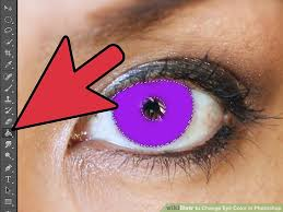 purple eye color how to change eye color in photoshop 10 steps with pictures