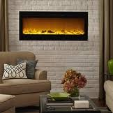 Recessed Electric Fireplace The Sideline 50 Touchstone U0027s Recessed Electric Fireplace With Heat