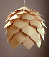 beautiful pattern of crimean pinecone hanging lamp design by pavel eekra