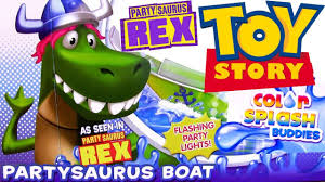 partysaurus rex boat color changing playset toy story 4 color