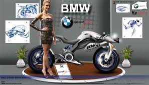 bmw sport bike bmw h2 sport motorcycle concept way2speed