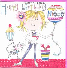 niece birthday cards girl balloon special niece birthday card karenza paperie