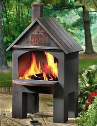 Firepit Bbq Outdoor Cooking Chiminea Fireplace Patio Grill Pit Firepit