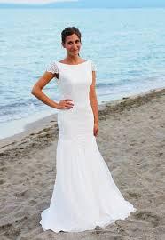 aliexpress com buy beautal beach wedding dress round neck