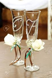 wine glasses for wedding beautiful wedding wine glasses stock photo picture and royalty