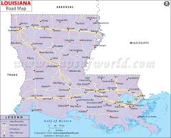 louisiana map in usa louisiana road map louisiana highway map