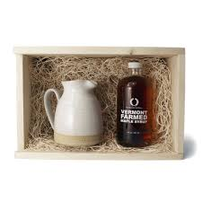 farmhouse pottery woodstock vermont maple syrup small bell pitcher gift set
