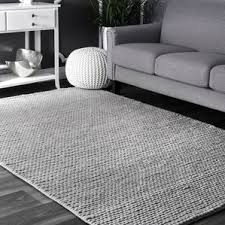 Black And Gray Area Rug Gray U0026 Silver Area Rugs Birch Lane