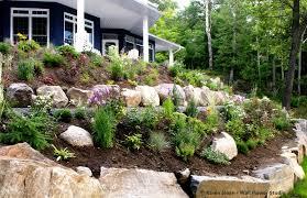 Tiered Garden Ideas Hillside Landscape Two Tiered Garden 60 Ft Beds Perennial