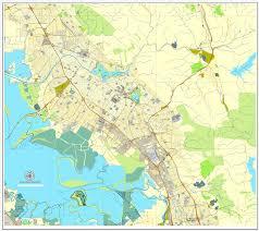 california map pdf fremont map california us printable vector city plan