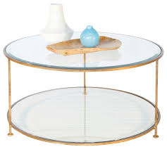 Glass And Gold Coffee Table Gold Leaf Iron Round Gold Glass Coffee Table With Beveled Glass