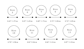 wedding ring sizes engagement wedding ring size chart