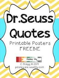 classroom freebie printable color dr seuss quote posters tpt