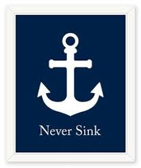 Items Similar To Nautical Anchor - personalized nautical print anchor navy by ilovesparklebarley