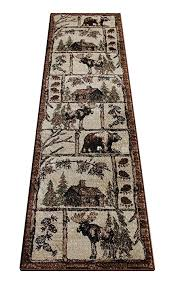 amazon com cabin style area rug runner 2 ft 2 in x 7 ft 2 in