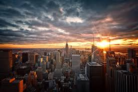 wallpaper usa new york top view skyscrapers hd picture image