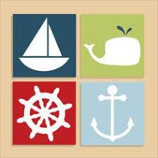 Nautical Theme by Nautical Nursery Baby Nursery Wall Art By Trmdesign