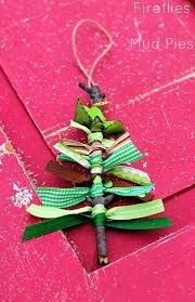 scrap ribbon tree ornaments scrap ornament and fireflies