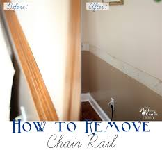 how to remove chair rail part 1