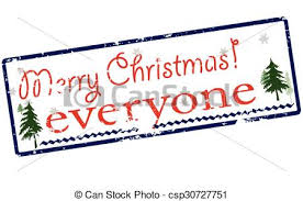 clipart vector of merry everyone rubber st with