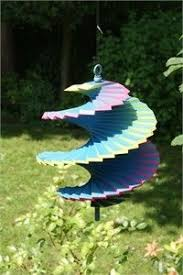 see rainbow wooden wind spinner for a sensory garden