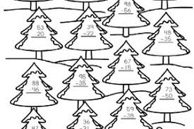 christmas math coloring worksheets 3rd grade coloring pages ideas