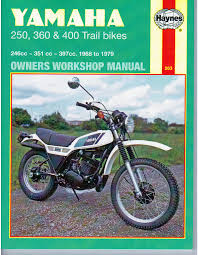 manuals and parts books parts by type xt350 workshop manual