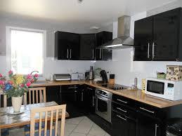 meuble de cuisine noir meuble four encastrable 11 meuble de cuisine noir laque modern aatl