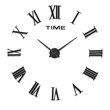 decorative wall clock home impression multi style modern 3d frameless large wall clock