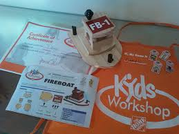 dk books and other stuff kids workshop at the home depot fire boat