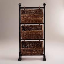 Bathroom Storage Shelves by Bathroom Marvelous Three Rattan Towel Storage Basket With Black