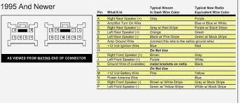 nissan radio wiring color code wiring diagram byblank